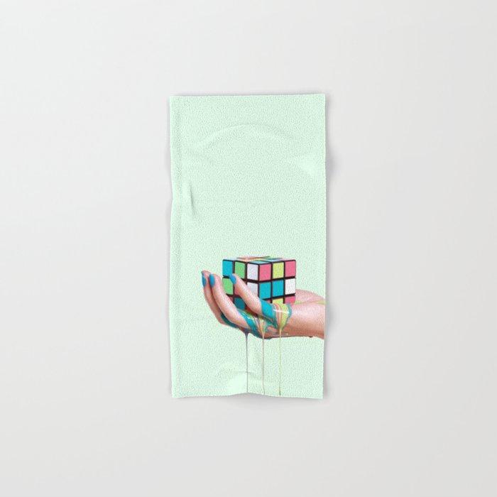 MELTING RUBIKS CUBE Hand & Bath Towel