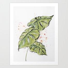 Tropical Foliage Art Print