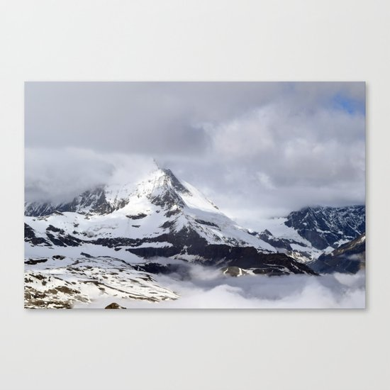 Mountain meets Clouds Canvas Print