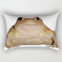 Bufo Bufo European Toad  Isolated Rectangular Pillow
