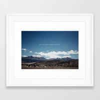 not all who wander Framed Art Prints featuring Not All Who Wander by Thomas Drach