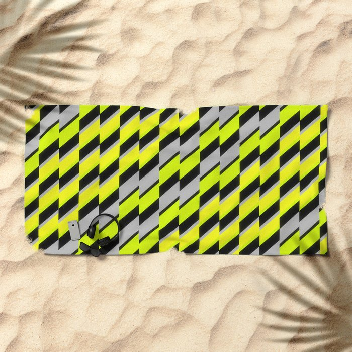 cntmprryptrn05 Beach Towel