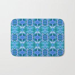 Psychedelic Kaleidoscope Sea Foam Pattern Bath Mat