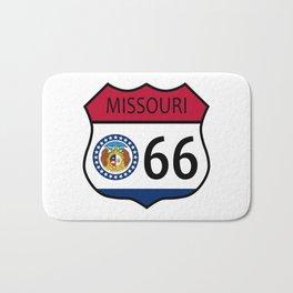 Route 66 Missouri Sign and Flag Bath Mat