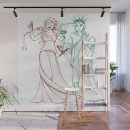 Liberty and Justice Wall Mural