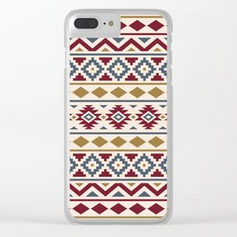 Aztec Essence Ptn III Red Blue Gold Cream Clear iPhone Case