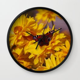 ButterFlower Wall Clock