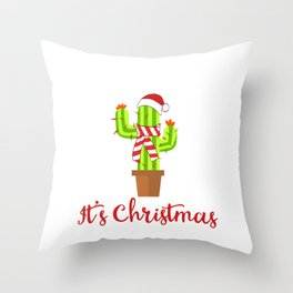 Keep Off It's Christmas Merry Christmas December 25 T-Shirt Design Thorn Spiny Prick Plant Throw Pillow