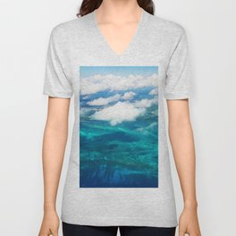 499 - Abstract Aerial Design Unisex V-Neck