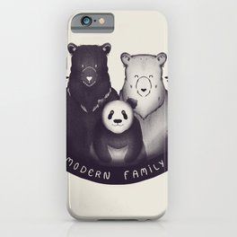 Modern Bear Family iPhone Case