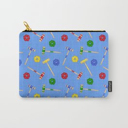 Heathers Blue Repeat Pattern Carry-All Pouch