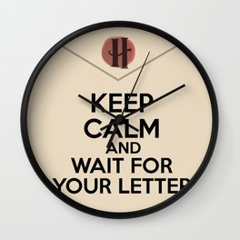 HP Keep calm and wait for your letter #2 Wall Clock
