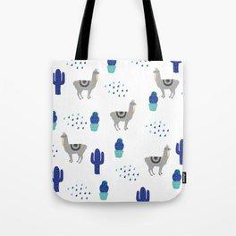 Llama Cactus Tote Bag