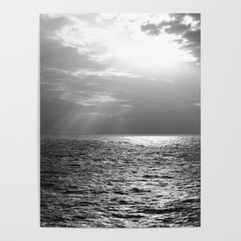 Black and White Sea Poster