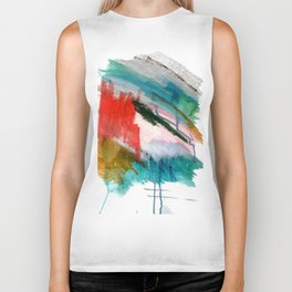 Happiness - a bright abstract piece Biker Tank