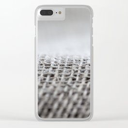 Flax background surface Clear iPhone Case