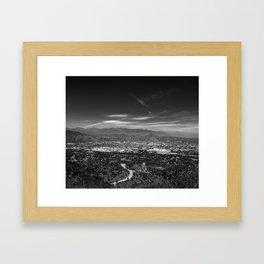 Los Angeles landscape Framed Art Print