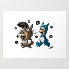 Super Totoro Bros. Alternative Art Print