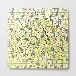 Chaotic music notation Metal Print
