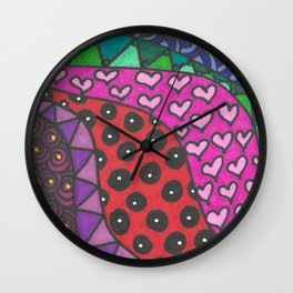 Colorful Zentangle Wall Clock