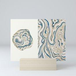Polar Bear Lines Mini Art Print
