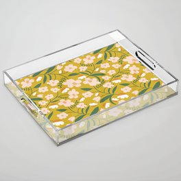 Vintage Inspired Floral Acrylic Tray
