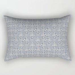 Silver Truchet Tilling Rectangular Pillow