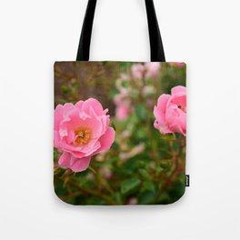 Pink Wild Roses Tote Bag