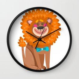 lion cartoon  cute Wall Clock