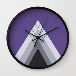 Iglu Ultra Violet Wall Clock