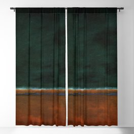 1953 Green and Maroon HD Blackout Curtain
