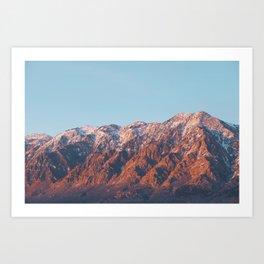 Sunlit Mountains Art Print