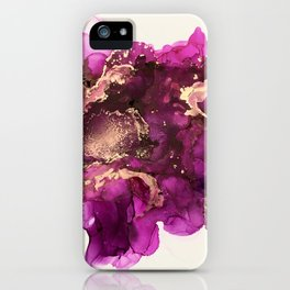 Magenta Melting iPhone Case