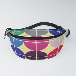 Multicolor Dots on Grid Fanny Pack