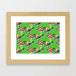 Qu - pattern 1 Framed Art Print