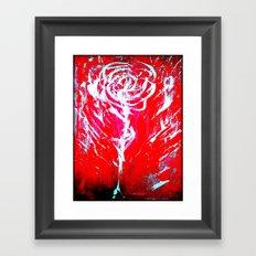 JUSSI FLOWER ROSE Framed Art Print