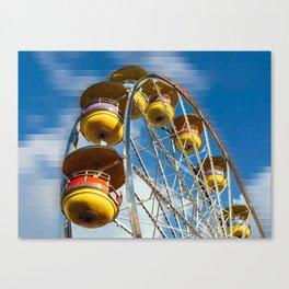 Ferris Wheel and Blue Skies Canvas Print