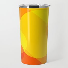 Orange Spheres Abstract Travel Mug