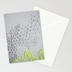 Neon Geometric Stationery Cards