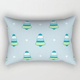 Blue Frost Holiday Bells Rectangular Pillow