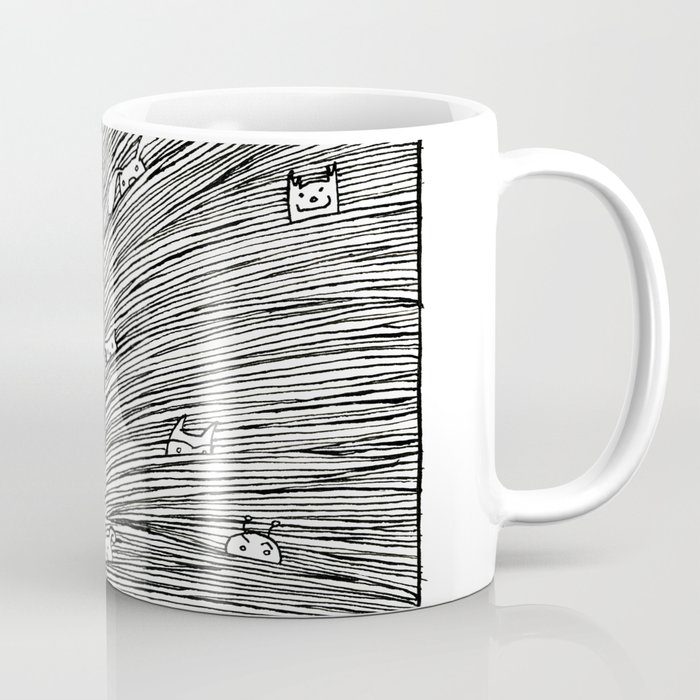 Separated Kaffeebecher