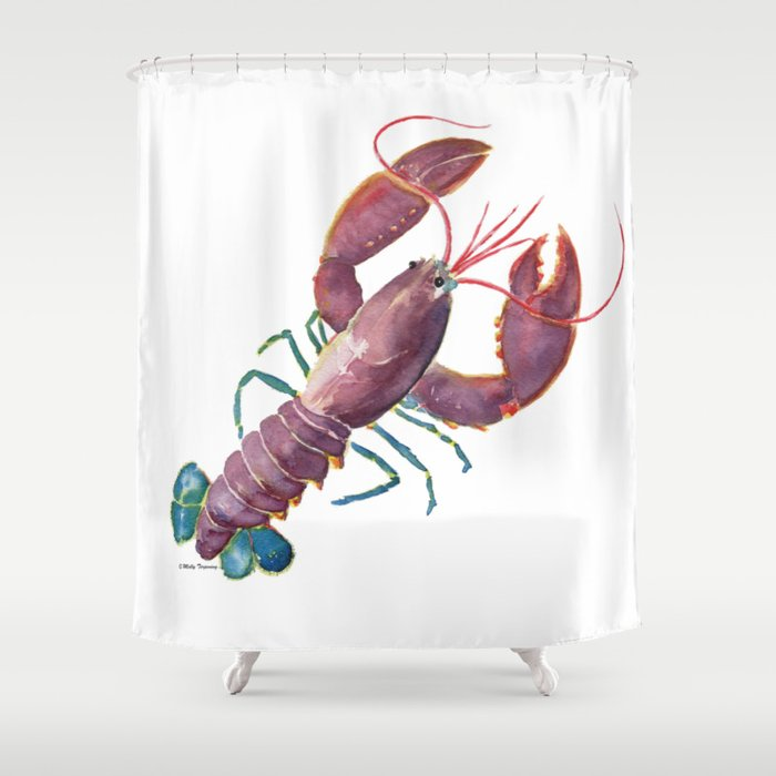 Lobster Shower Curtain By Mellyterpening