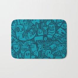 Blue Doodle Bath Mat