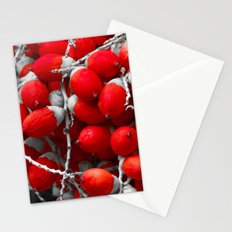 Manila Palm Red Stationery Cards