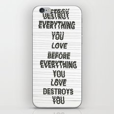 Destroy iPhone & iPod Skin