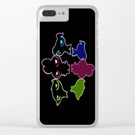 Power Puff Shadow Colors Clear iPhone Case