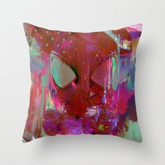 Spider Abstract Man Throw Pillow