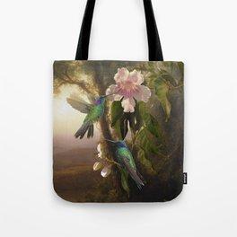 Sparkling Violetear Hummingbirds Tote Bag