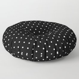 Small Black and White Polka Dots pattern  Floor Pillow