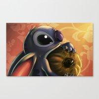 stitch Canvas Prints featuring Stitch by pandatails
